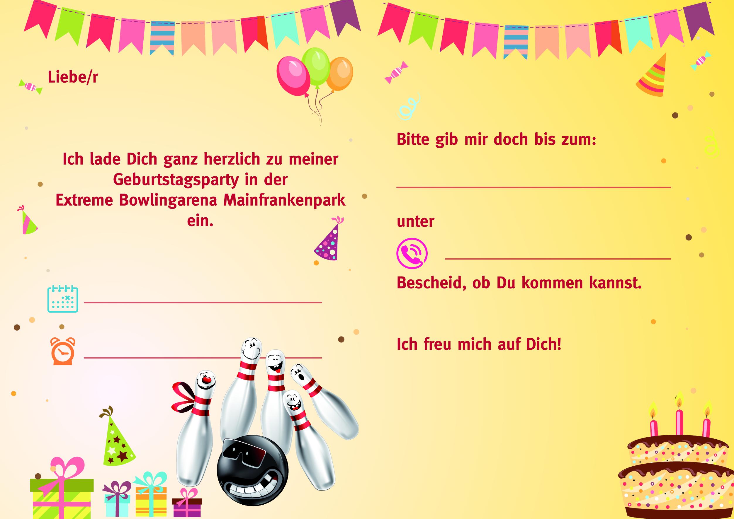 einladung kindergeburtstag bowling kostenlos – cloudhash, Einladungsentwurf