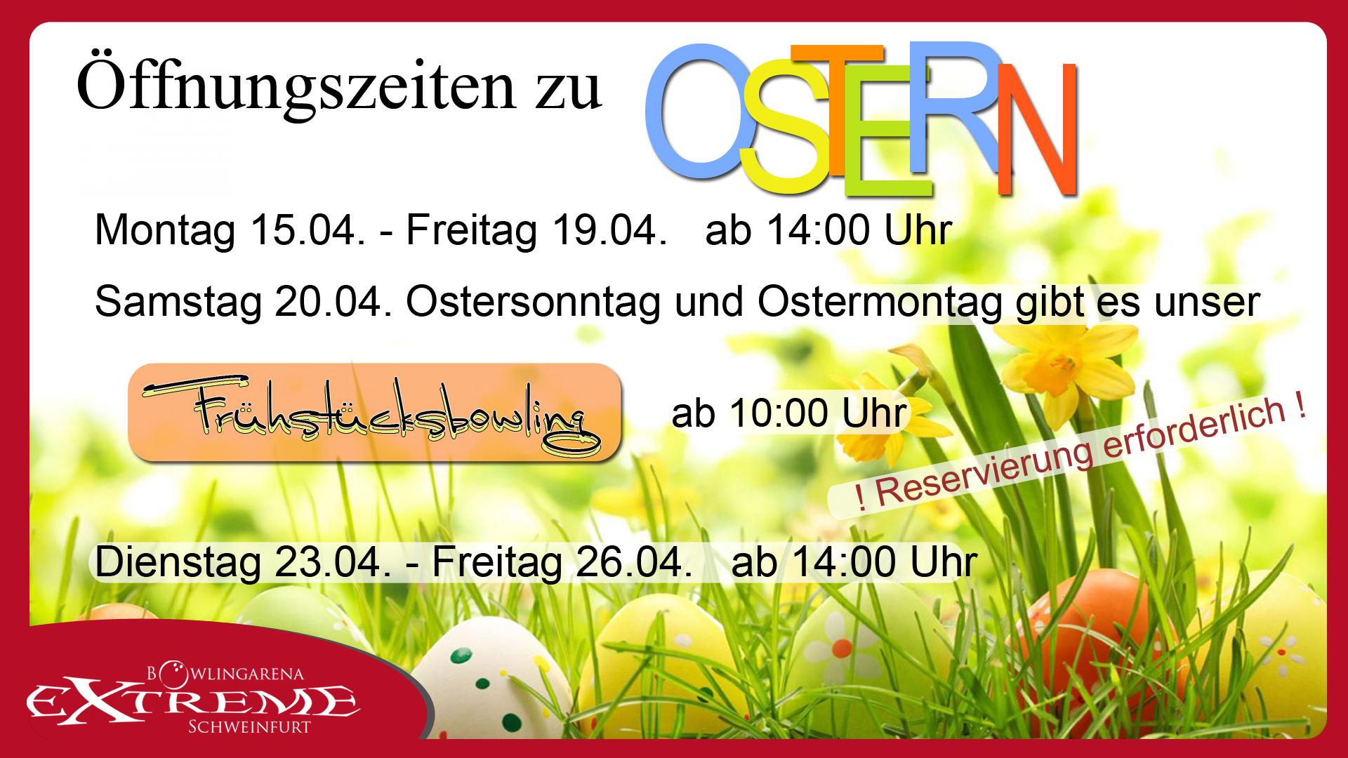 Osterferien Öffnungszeiten